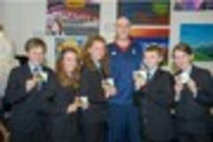 olympic athlete craig figes inspires students at looe comnunity academy